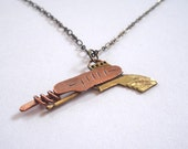 Ray Gun Necklace SciFi Retro Geeky Space Gun