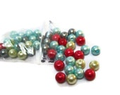 50 Assorted Pearl Glass Beads