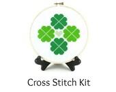 Shamrock Four Leaf Clover St. Patrick's Day Cross Stitch KIT