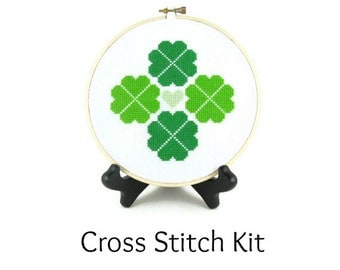 Shamrock Four Leaf Clover St. Patrick's Day Cross Stitch KIT