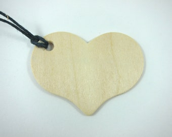 10 Wooden Heart Gift Tags Hang Tags Unfinished Wood Tag - Wedding Favors Memory Tags