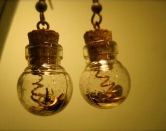 Steampunk Bottle Earrings