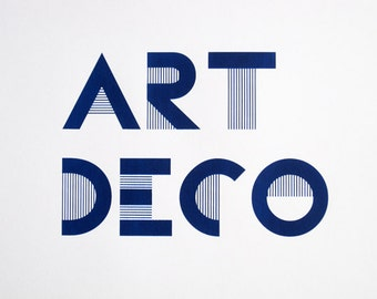 Art Deco - limited edition screenprint