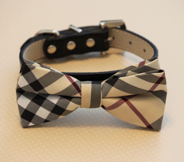 Dog bow tie wedding dog collar dog lovers dog collar by ladogstore