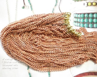 "12 Vintage Coppercoated 24"" Curb Chains"
