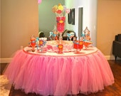 Tutu Tableskirt, Custom Tulle Table Skirt Wedding, Birthday, New Baby