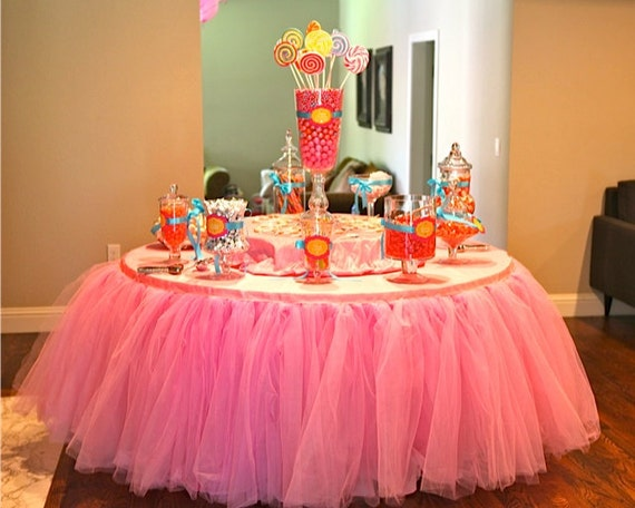 Tutu Tableskirt Custom Tulle Table Skirt Wedding Birthday New Baby By Bailey Had A Party