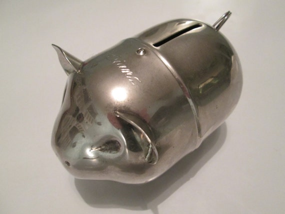 stainless steel piggy bank