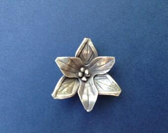 HT -14 Thai Karen Hill Tribe Silver Flower Pendant