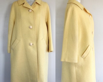 "Vintage ""D'oro Original Canary Yellow Coat"