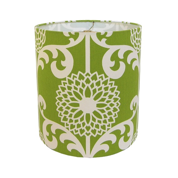 Lamp Shade Lampshade Fun Floret By Waverly Spruce Green Floral