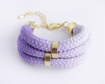 Purple Rain - Dip Dye Bracelet in lavender and creme