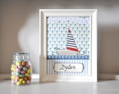 Personalised nautical art - kids room