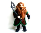 Gloin Dwarf The Hobbit Tolkien Crochet Doll - AmayArt