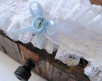 Wedding Garter: White Vintage Inspired Lace Garter
