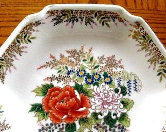Otagiri Handpainted Plate Dish, Great  Bowl,Trinket dish Gorgeous  7.5 inches