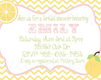 Printable Invitation- Pink Lemonade Bridal Shower