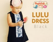 LULU Dress PDF Pattern & Tutorial - 8 sizes from Age 1 to 8