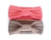 Turban Headband - Two - Your Choice of Colors - Crochet Headband