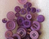 50 lavender purple buttons destash crafting buttons