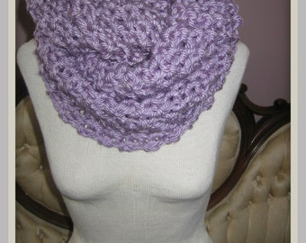 Lavender Knitted Infinity Scarf  READY TO SHIP** Luxurious and Cozy