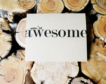 You're Awesome - Single Card