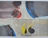 Reserved for Christopher. R.A.Smith mid-century abstract serigraph, 60's, Very large