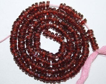 Natural AAA Quality Garnet 3 to 4mm Faceted Tyre Gemstone Beads 13 Inches FTR05