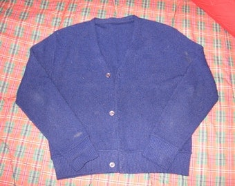 Arnold Palmer style cardigan navy sweater 1960s 1970s
