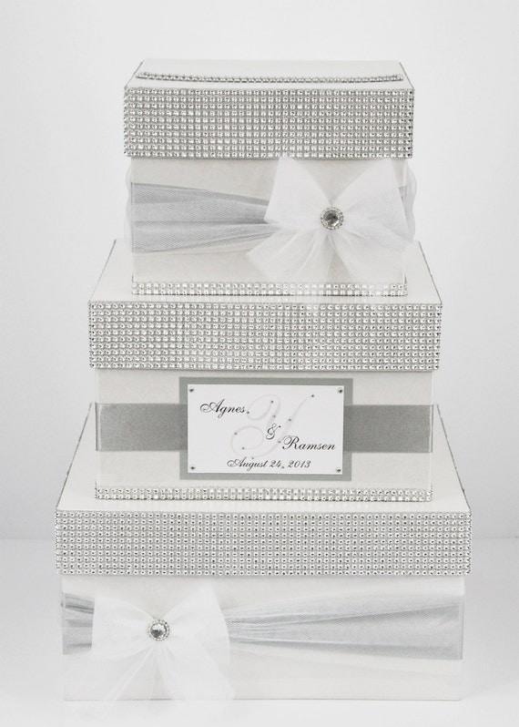 Wedding Card box / Card holder / Wedding money box3 tier ...