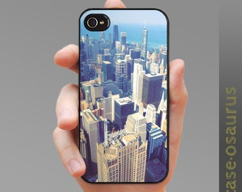 "Case ""Top of Chicago"" for iPhone 6, iPhone 5/5s or iPhone 4/4s, Samsung Galaxy S6, Galaxy S5, Galaxy S4, Galaxy S3"