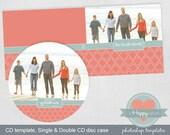 Fluer Photographer CD case and CD templates, PSD templates, whcc cd template