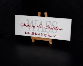 Established Date Family Last Name Sign, Makes Perfect Wedding Gifts, Enagagement, Bridal Shower, or Anniversary