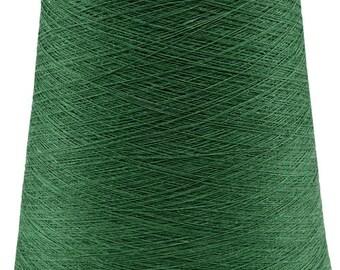 1 kg/ 35oz 100% LINEN YARNS, Emerald - Green Linen Yarns, high quality yarn