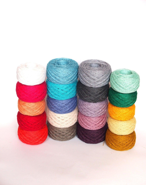 20 Balls LINEN YARN 100% Linen Yarn Various Colors High