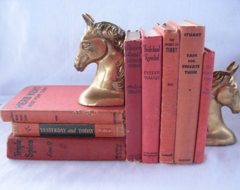 Old Red Books 1st EDITIONS for Reading or Decor