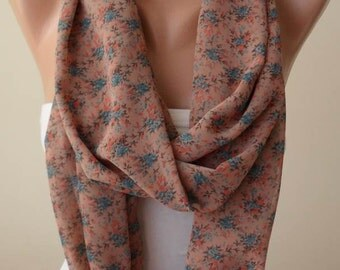 Cinnamon Infinity Scarf -  Chiffon Fabric