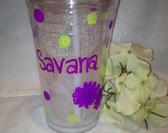 Cheerleading Sport Cup Tumbler with Straw Personalized