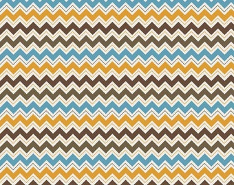 Hoot Chevron Brown:  Riley Blake 1 Yard Cut