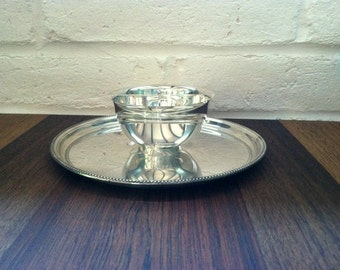 Vintage Towle Silverplate Tray with Bowl