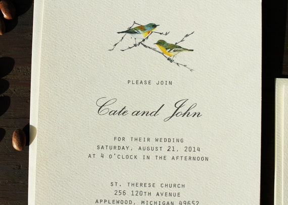 Bird Wedding Invitation: Bird Wedding Invitation Printable Or Handmade // Love Birds