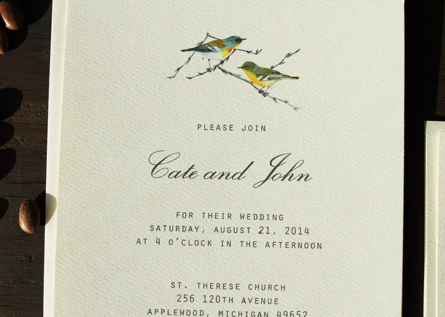 Bird Wedding Invitation: Bird Wedding Invitation Vintage Rustic Wedding Invitation