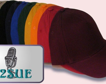 HAM  RADIO Hat  - Custom EMBROIDERED in CrushProof Box with Old Style Mic Design and Callsign  H4