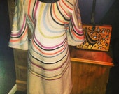 1950's Wool Mad Man Style Swirl of Color Vintage Dress -RESERVED FOR KAREN-