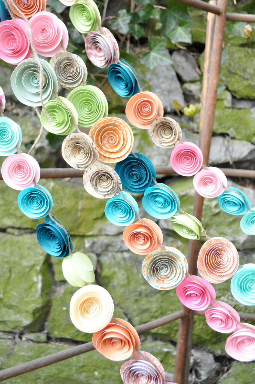Paper Flower Garland Template 28 Images Pin By Elli On Fabulous
