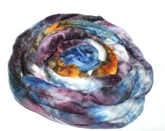 Merino Wool And Mulberry Silk 50/50 Blend Brick Form Super Fine Merino Silk Destash Spinning Felting Fiber 123 gm 4.35 oz