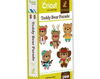 Cricut Cartridge -TEDDY BEAR PARADE - NeW - Hard to Find -  Cricut Lite Series