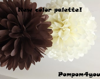 40 Tissue Pom Pom mix - any colors