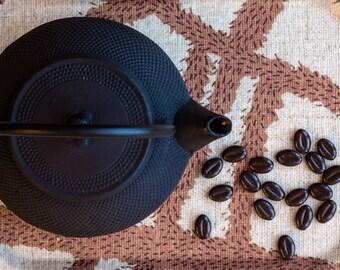 Tea and Breakfast Tray with Scandinavian Print, Brown
