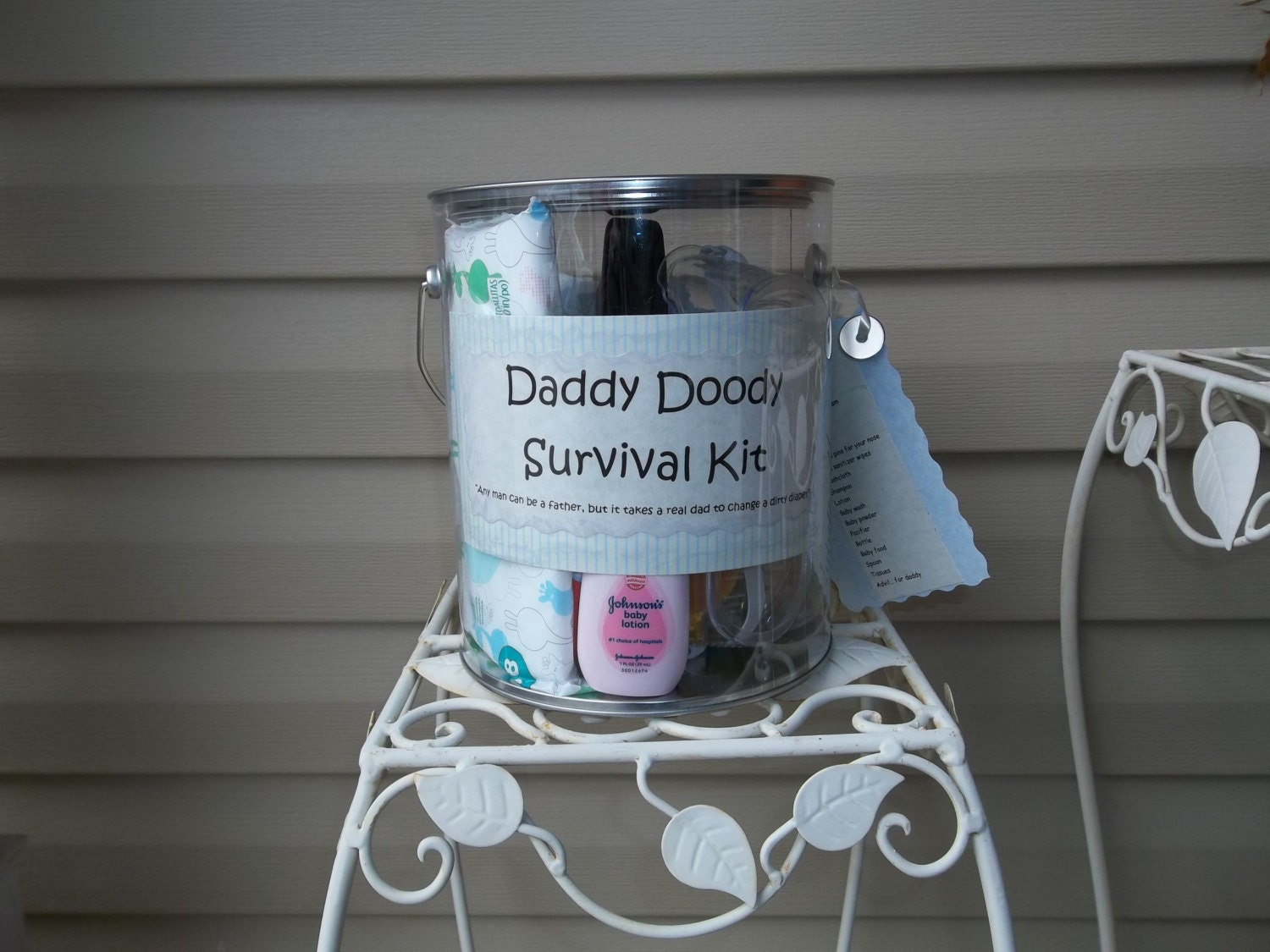 Baby Shower For Dad Gifts ~ Daddy doody survival kit great gift for baby shower by